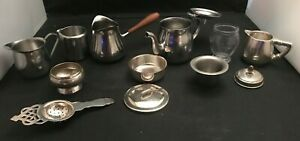 Stainless Steel Cream and Sugar Serving Pieces Various Brands