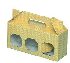 SCATOLA ASTUCCIO di cartone per 3 vasi miele da 250 g (giallo) -OFFERTA 50 pezzi