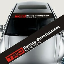 Reflective TRD Front Windshield Banner Decal Car Sticker for Toyota 130*22CM