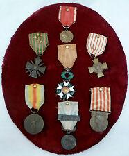 Groupe Médailles VERDUN 1916 LEGION D'HONNEUR 1914-1918 WWI CROIX GUERRE DIPLOME