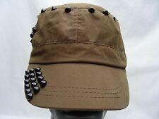 marron - émaillé - Polyester - Cadet style casquette ajustable Strapback chapeau