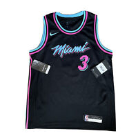 Nike NBA Miami Heat Vice City Swingman Jersey Shirt #3 WADE Youth Women's M RARE