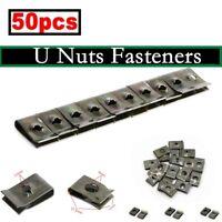 50X Dashboard Panel Fender Screw U Type Clips Speed Fastener Interior Trim Panel