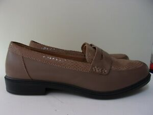 Hotter Dorset size 5  EXF taupe/beige leather loafer shoes.