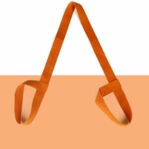 Portable Yoga Fitness Gym Mat Shoulder Carrying Strap Sling Canvas Belt Orange