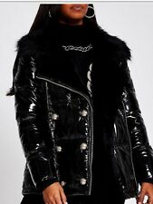 RIVER ISLAND PUFFER PADDED AVIATOR JACKET SIZE 12 BNWT SOLD OUT