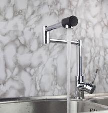 Modern Kitchen Sink 360° Rotate Mixer Single Handle Tap Deck Mount Brass Faucet