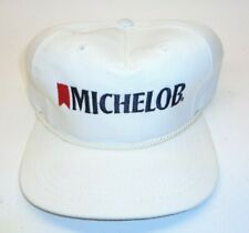 Vtg Michelob Beer Hat White Trucker Baseball Snapback Cap Made In The USA