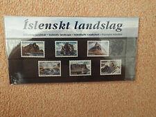 Folder Island ** Isländische Landschaften 1989/1990/1991 (6 Marken) postfr.