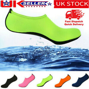 Mens Women Kids Water Shoes Aqua Socks Diving Surfing Pool Beach Swim Shoe Size