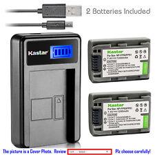 Kastar Battery LCD Charger for Sony NP-FP50 FP51 & Sony DCR-DVD755 DCR-DVD803