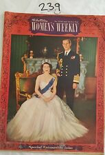 AUSTRALIAN WOMENS WEEKLY 1953 MAY 27,CORONATION ISSUE,ARNOTTS,MOBILOIL,FASHION