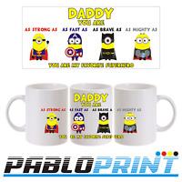 Fathers Day Gift Mug 11oz Daddy Dad Father Coffee Tea Minions Superhero Birthday