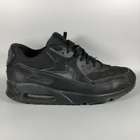 NIKE Air Max 90 Essential Black Mens Trainers Shoes Size UK 10 Eur 45