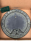 """Virginia MetalCrafters SUNDIAL Cast Iron Face Yet To Be With Tags Orig Box 10.5"""""""