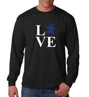 Long Sleeve Love Puzzle Shirt Autism Awareness T-Shirt Autism Society Support