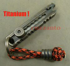 Titanium EDC hand polished Key chain folding paper knife + lanyard paracord bead