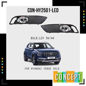 FOR Hyundai Venue 2019 2020 2021 Front bumper LED fog light Set
