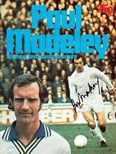 More details for paul madeley signed autograph leeds united testimonial brochure aftal coa