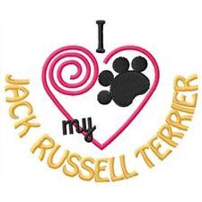 "I ""Heart"" My Jack Russell Terrier Ladies Fleece Jacket 1388-2 Size S - Xxl"