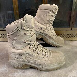 Reebok Rapid Response Composite Toe Combat Army Boots Desert Camo Mens 10 Wide