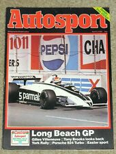 Autosport 3/4/80* LONG BEACH GP -VILLENEUVE PROFILE -TONY BROOKS - LIGIER POSTER