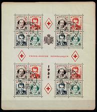 TIMBRE MONACO Année 1951 BLOC n°4A NEUF** Oblitération 1951 COTE 550€