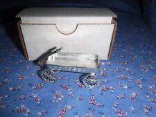 "NIB Doll House Miniature Metal Eclipse Wagon Detailed Wagon Box 2 5/16 x 1 1/16"""