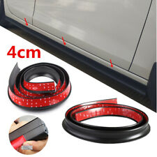 Black 40mm Universal Rubber Car Side Skirt Lip Kick Scratch Guard Strip 2x 2m