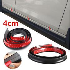 Black 40mm Universal Rubber Car Side Skirt Lip Kick Scratch Guard Strip 2x 2m