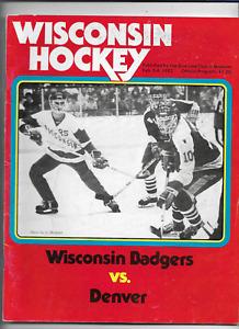 February 5-6 1982 WISCONSIN vs DENVER College Hockey Program (JS)