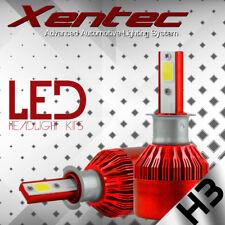 COB H3 C6 7600LM 72W LED Headlight Kit Hi/Lo Turbo Light Bulbs 6000K Car