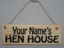 Personalised Hen House Chicken Coop Run Eggs Duck Goose Hanging Sign Plaque Farm