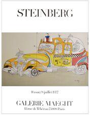 Saul Steinberg Taxi Poster Kunstdruck Bild 78x58cm