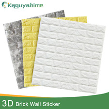 Kaguyahime 3D Brick Wall Stickers DIY Decor Self-Adhesive Waterproof Wallpaper F