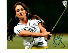 GOLF REPORTER HOLLY SONDERS SIGNED RAYS GAME 8X10
