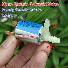 DC 24V Mini Electric Solenoid Valve N/C Normally Closed For Gas Air Water Pump