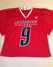 Warrior Men's Galveston Central Lacrosse Jersey, Red, #9, Size Xl