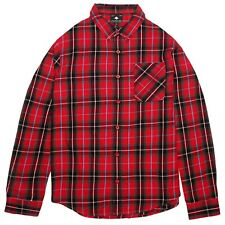 NWT - LIFTED RESEARCH GROUP Men's DURATION LONG SLEEVE BUTTON UP SHIRT Red - 3XL