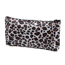 Women Zippe Leopard Print Cosmetic Holder Bag WS