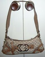 GUESS BROWN & BEIGE  SHOULDER  BAG