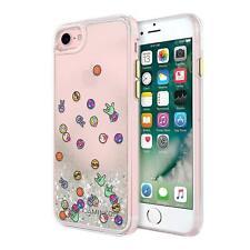 Rebecca Minkoff iPhone 8 7 6S 6 Shockproof Case Cover Emojis Glitterfall Clear