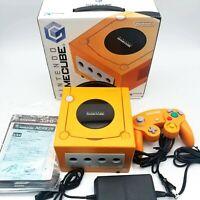 Orange Console Nintendo GameCube DOL-001 /w box and Manual ( NTSC-J ) Japan