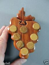 PUZZLE BOX BUNCH OF GRAPES INTERLOCKING WOOD WOODEN TRINKET JEWELRY HAND MADE