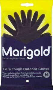 Marigold Extra Tough Latex Outdoor Gardening Rubber Cleaning Gloves - Medium