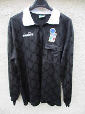 Maillot ARBITRE DIADORA 1990 maglia ITALIA FIGC arbitro Referee shirt trikot L
