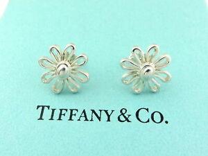 TIFFANY & CO Sterling Silver Daisy Flower Earrings