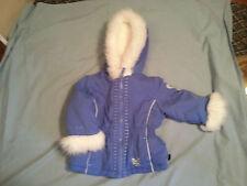 Girls Toddler Blue Pacific Trail 18 Months Winter Jacket Coat w/Faux Fur Hood