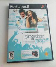 Singstar Pop (Playstation 2, 2007) karaoke singing video game Complete