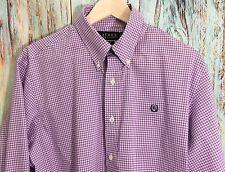LAUREN RALPH LAUREN A0514 Non Iron Men's Shirt Size 16 1/2 34/35 Purple/White